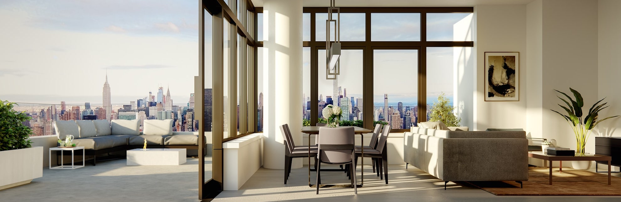 155 condos include outdoor terraces with sweeping, unobstructed view.